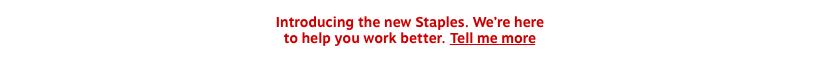 Introducing the new Staples